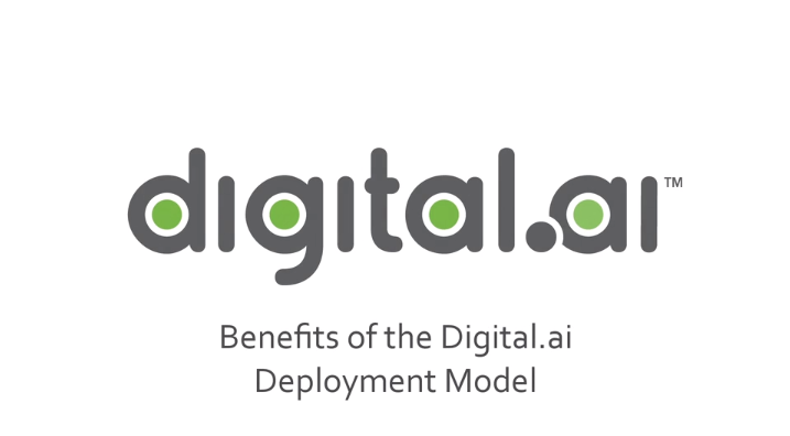 Digital.ai Benefits of Model-Based Deployment