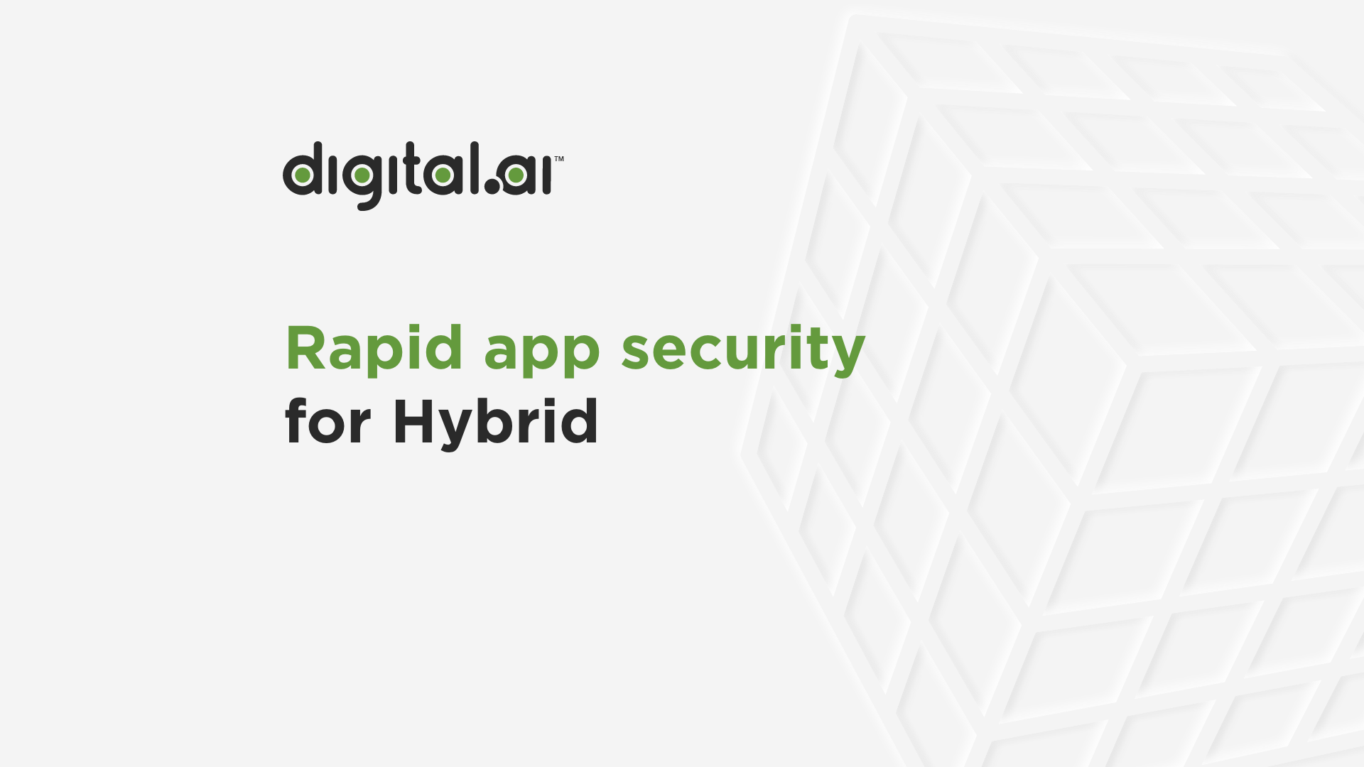 Video screenshot for Rapid App Security for Hybrid apps