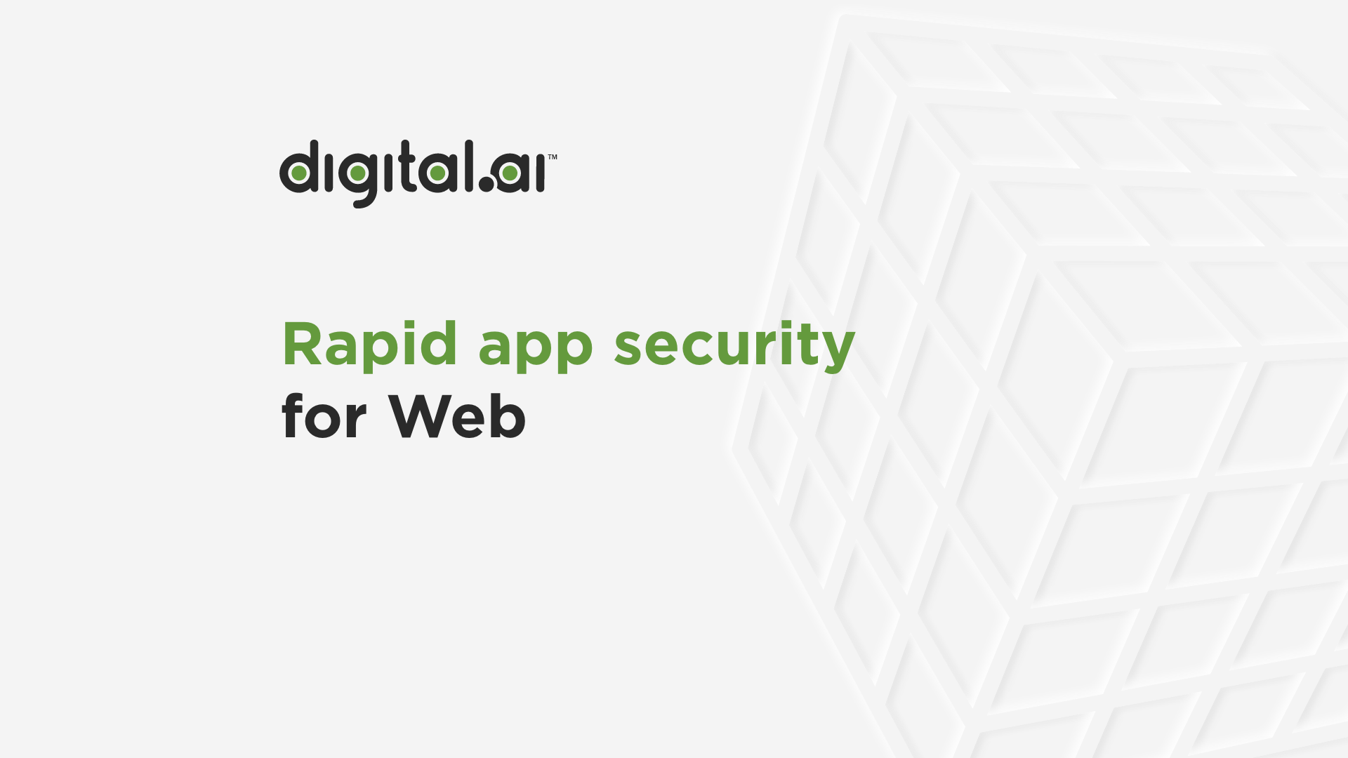 Video screenshot for Rapid App Protection for Web