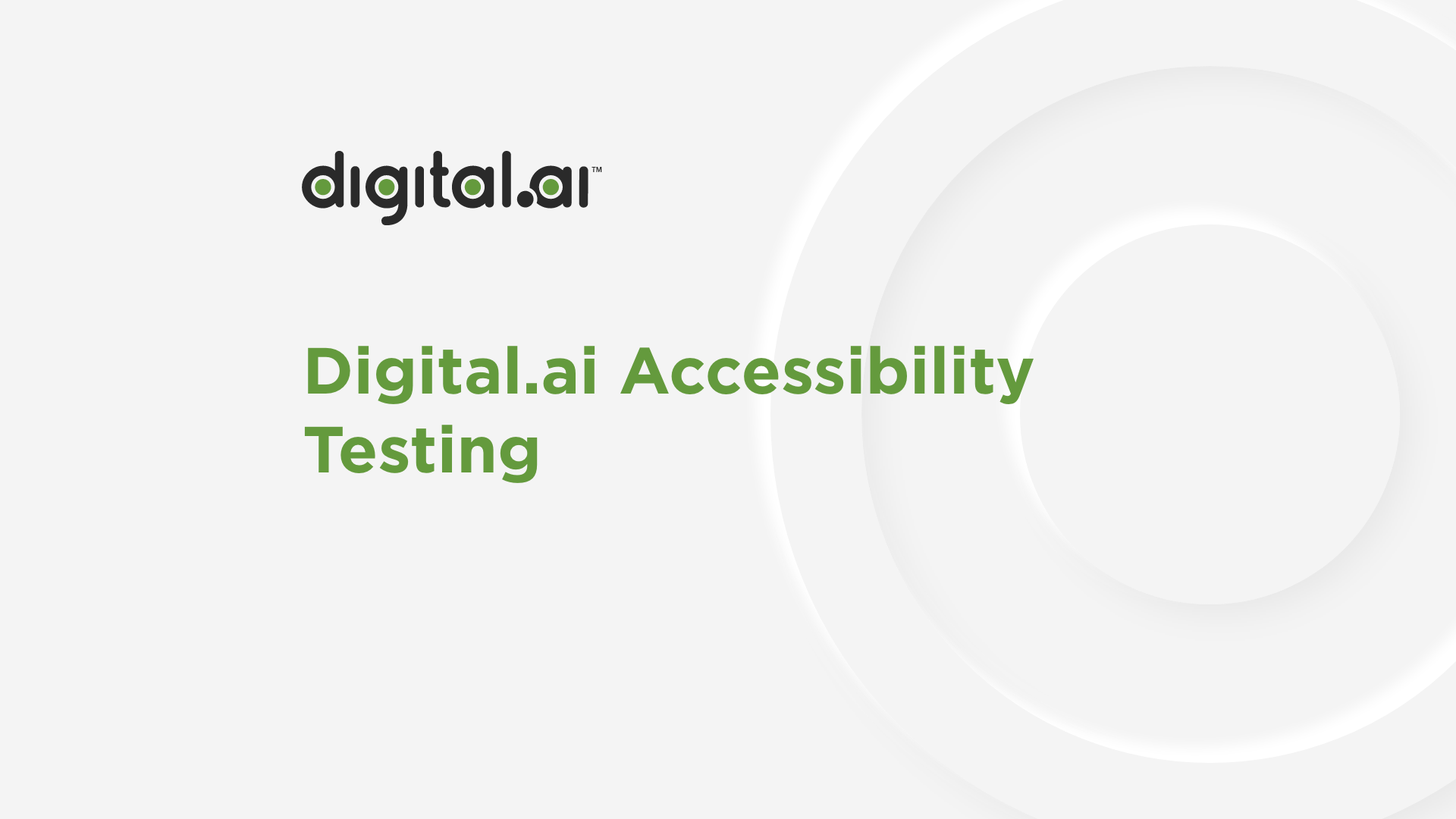 Screenshot of Digital.ai Accessibility Testing video