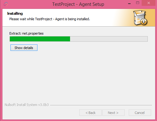 test project installer