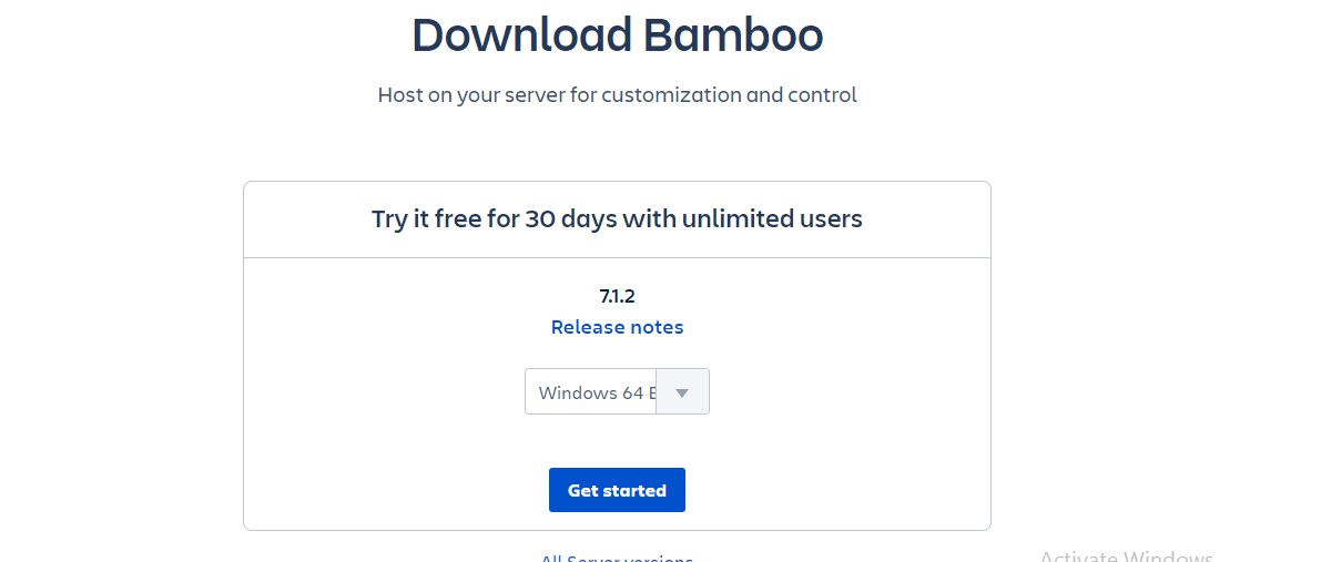 Download Bamboo CI Server