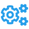 Experitest Integrations and Frameworks Icon (cogs)