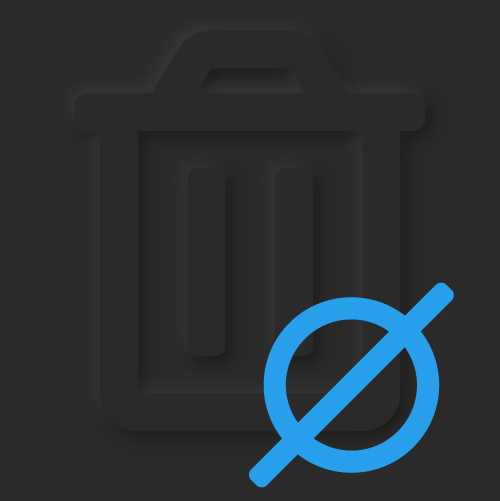 No waste symbol (dimensional trash can w/null sign over it) as texture; Digital.ai Software Chain of Custody: Today you are wasting resources, time and money